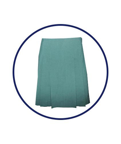 girls-short-skirt-green